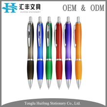 HF5238 high quality rubber grip office ball pen with custom logo