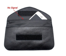 Custom new design anti-radiation rfid pouch case for cell phones