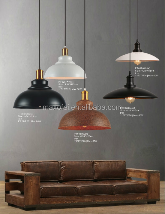 Industrial vintage edison bulb pendant light contemporary iron drop lighting for decoration