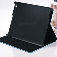 luxury folio stand style leather case for Apple ipad 4 16gb