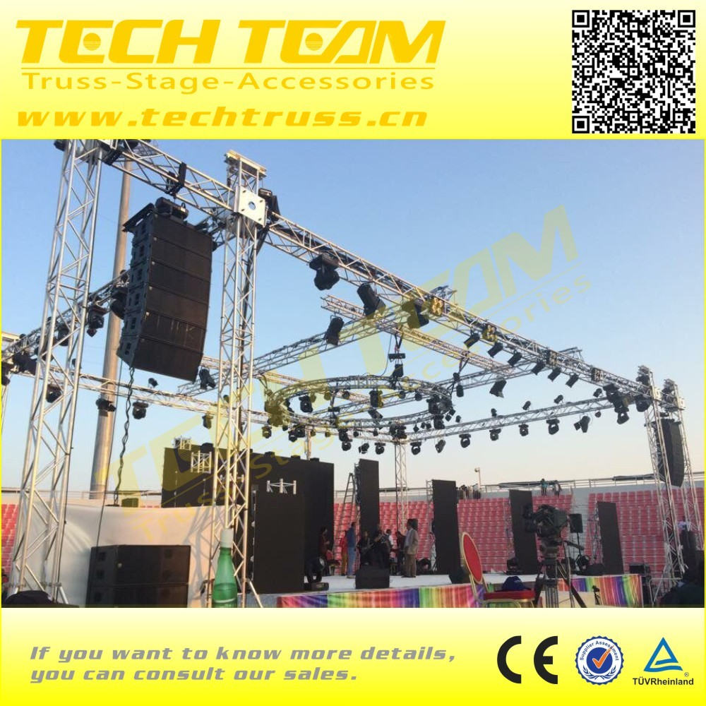 400mm Lighting truss tower system lift tower material Aluminum 6082-T6
