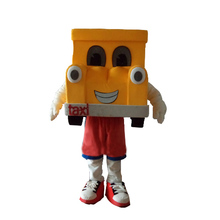 HI EN71 Funny Custom cartoon yellow car mascot costume