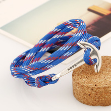 Free sample various color available cheap anchor bracelet for promotional BCL019