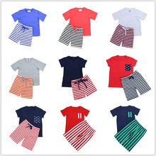 Wholesale 2016 kaiyo hot sale summer high quality baby boys clothing sets kids clothing baby boy clothes