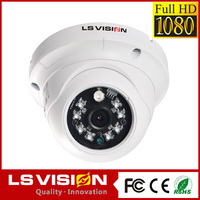 LS VISION night vision security cctv ip camera with poe ip camera audio input output