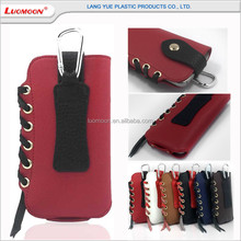 Soft wear rope universal PU mobile cell phone carry bag for iphone 4 5 6 s plus c se general mobile with buckle hanging