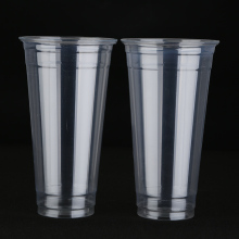 ZFCUP 24oz Disposable Plastic Cup With Lid Leak Proof For Bubble Tea