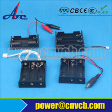 4AA battery holder with wire leads,cover, switch/4AA battery box/4AA battery case