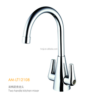 High Quality Brass dual handle kitchen faucets, mixers, water taps