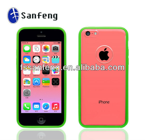 Unique case for iphone5C Simple design for iphone 5C mobile phone case Clear accessories for iphone 5C