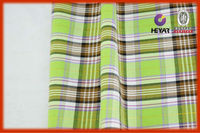 Hot sale woven fabrics yarn dyed checked slub fabric