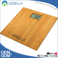 Whole bamboo platform LCD display body weight small scale industries