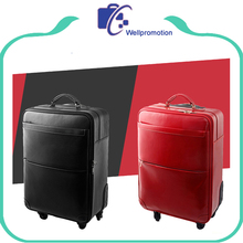 Fashion Men Business PU Leather Luggage Case/trolley leather luggage