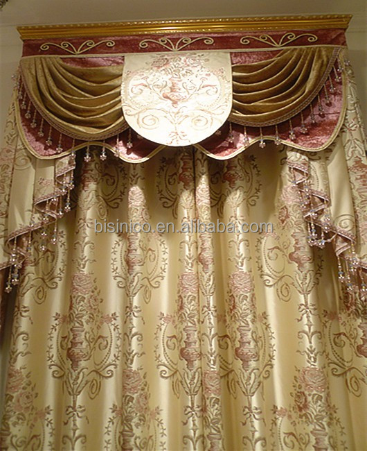 New Fancy High Quality Embroidery Window Curtains/ Decorated Living Room Curtain