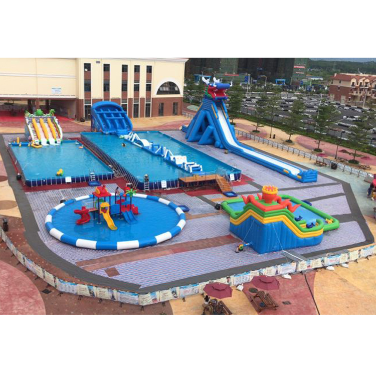 Summer Cheap Large Commercial Adult Entertainment Giant Inflatable Playground Amusement Aqua Fun Water Park Kids With Pool