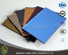 1.8mm thickness Colored Mirror glass price of high quality for furniture