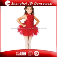 Red Short Ballet Skirts for Girl