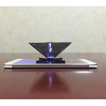 "NEW Universal 3D Holographic Projector Pyramid For 3.5""~6""Mobile Phone mini holographic projector"