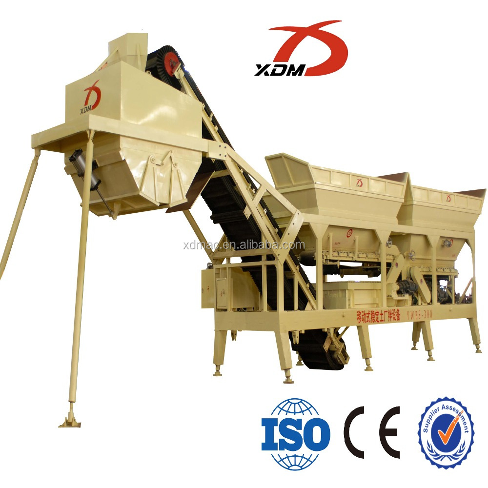 Hot sale standard product YWBS300 mobile stabilized soil mixing plant