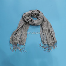 Buy Polyester Silver Holiday Handmade Scarf