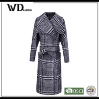Winter parka wool woolen coat designs for ladies on wholesale
