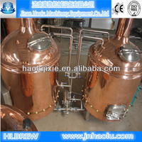 Micro Red copper Beer brewing equipment / Hop flavor malt Beer and Barley beer brewing system