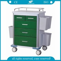 AG-GS002 Easy cleaning&stainless hospital equipment type medical trolley with drawers