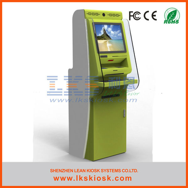 bank credit card payment kiosk cash payment kiosk