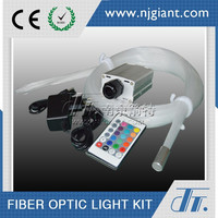 illumination and decoration LED end glow fiber optic cable lighting kit