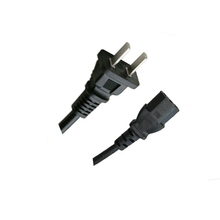China CCC Standard 2 Pin AC Power Cord Plug to Connector with Extension Cord