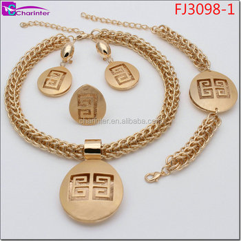 free shipping african fashion wedding gold plated jewelry sets FJ3098