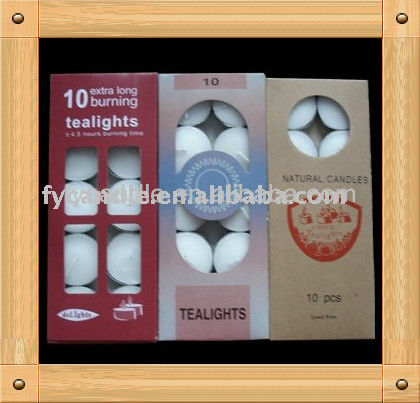 factory Unscented Paraffin wax Tealight candles with various weights, manufacturer from China