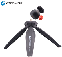Gizomos Super Lightweight Aluminum Mini Camera Tripod & Ball Head for DSLR Camera
