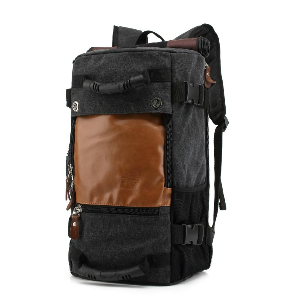 Functional 3 way backpack canvas backpack with hidden straps, Convertible Backpack/Duffle