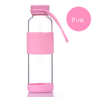 2016 New Products High Borosilicate Glass Water Bottle Water Glass Drinking Cup Best Sell In America