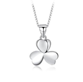 plant clover necklace jewelry wholesale 925 silver necklace jewelry