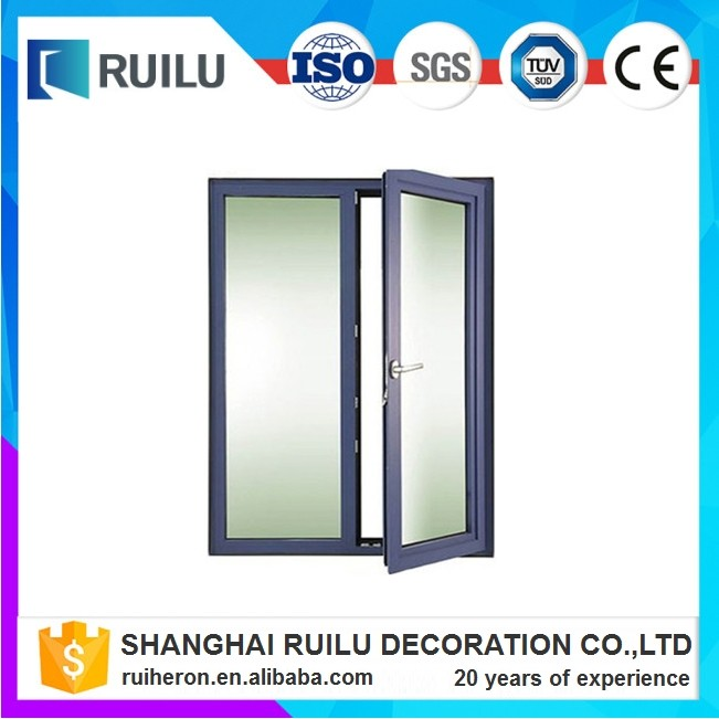 Double glazing aluminium plywood flush casement door