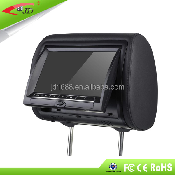 9 inch dvd player headrest with wireless game for mercedes