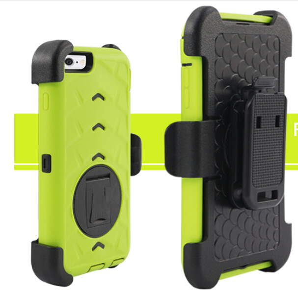 3 in1 Combo Phone Cases for iPhone 6 belt clip case Holster Stand Armor Case for iPhone Shockproof Hard Case