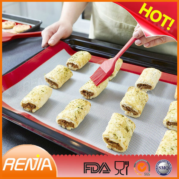 oem red artisan fda 2set baking mat 600x800 private logo label or wholesale colorful kitchen food custom silicone baking mat