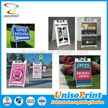 Outdoor Plastic sheet custom metal security yard signs