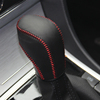 Black Leather Gear Shift Knob Cover for VW Golf 6 Mk6 Passat Tiguan Polo Automatic