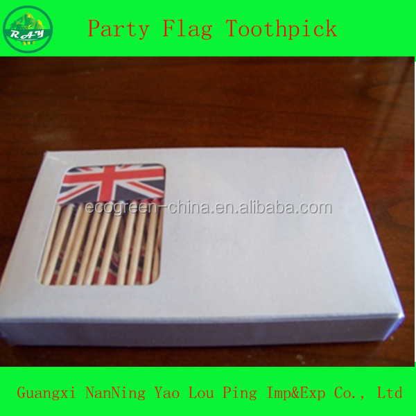 country american brazil country wood picks flag toothpicks