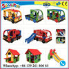 Amusement park play toys with double slide indoor playground flooring indoor slide