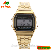 Fashion Mens Watches Relojes Mujer Quartz Stainless Steel Led Watch