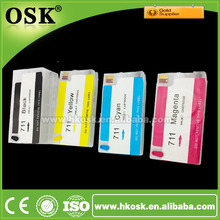 T120 Refill ink cartridge with New Reset chip for HP 711