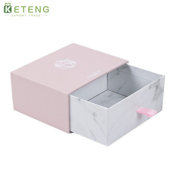 Customized logo cardboard sliding drawer storage packaging box for small product