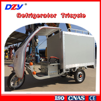 Motorized driving type ice cream refrigerator tricycle freezer electric car close cabin motor tricycle