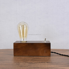Home / Retro Wood Block Table Lamp edison lamp wooden guestroom