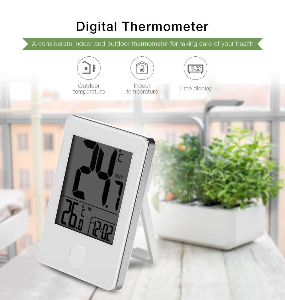 Digital LCD Thermometer Remote Wireless Electronic <strong>Temperature</strong> Meter Weather Station Indoor Outdoor Tester